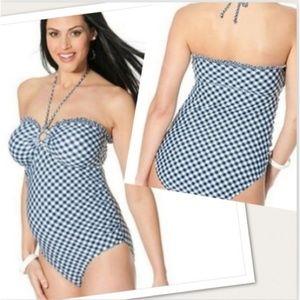 Motherhood maternity gingham swimsuit